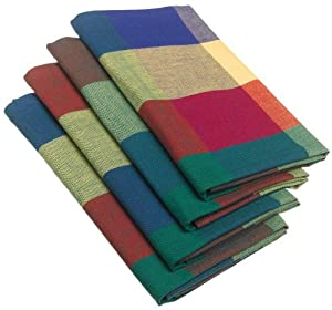 "DII 100-percent Cotton, Oversized Basic Everyday 20x 20"" Napkin, Set of 4, Palette Check"