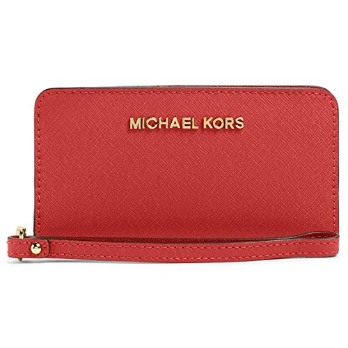 Michael Michael Kors Jet Set Travel Slim Tech Wristlet Mandarin - Michael Michael Kors Designer Ladies Wallets