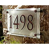 Engraved Crystal Address Plaque. Unique and elegant!