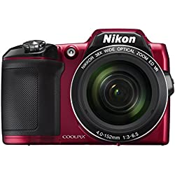 Nikon COOLPIX L840 Digital Camera with 38x Optical Zoom and Built-In Wi-Fi (Red)