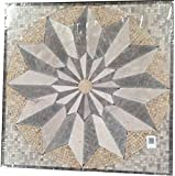Marble Mosaic Stone Venti Blend Medallion Floor Art Tile