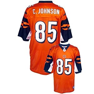 Reebok NFL Equipment Cincinnati Bengals #85 Chad Johnson Orange Alternate Replica Football Jersey (XX-Large)