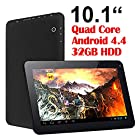 Contixo Q102 10.1 Quad Core Google Android 4.4 KitKat Tablet PC, 1GB RAM, 32GB Nand Flash, Bluetooth, Dual Camera, HDMI, Google Play Pre-installed, 3D Game Supported, 2014 Newest BLACK Model [ by AAA MART ]