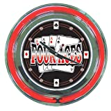 Trademark FA1400 14 Inch Neon Wall Clock With Four Aces Logo Four Aces