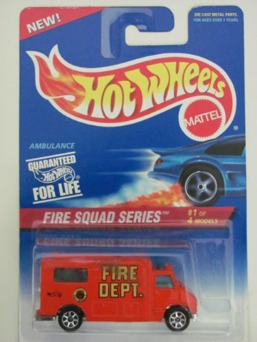hot wheels red ambulance fire squad series 1 of 4 424