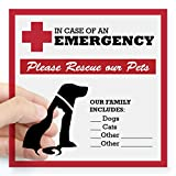 "CafePress - In Case of Emergency: Pet Rescue Sticker Square St - Square Bumper Sticker Car Decal, 3""x3"" (Small) or 5""x5"" (Large)"