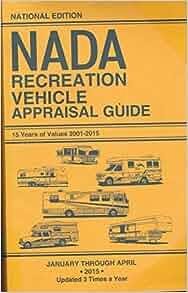 nada recreational vehicle appraisal guide