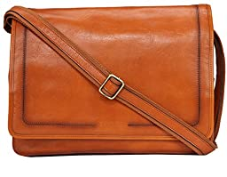 Banuce Full Grains Leather Business Messenger Bag 14 Laptop Case