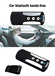 Evana Driving Safety Portable Multipoint Wireless Hands-Free Bluetooth Sun Visor In-Car Speaker phone Car Kit (Black)(Get free TTL/Trusttel Branded Mobile Cover)