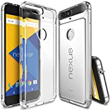 Nexus 6P Case, Ringke [Fusion] Clear PC Back TPU Bumper w/ Screen Protector [Drop Protection/Shock Absorption Technology][Attached Dust Cap] For Huawei Nexus 6P - Crystal View