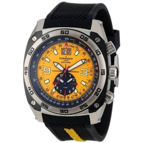 Torgoen T70505S05 - Reloj de mujer de cuarzo, correa de caucho color negro