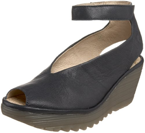 FLY London Womens Peep Toe Indigo