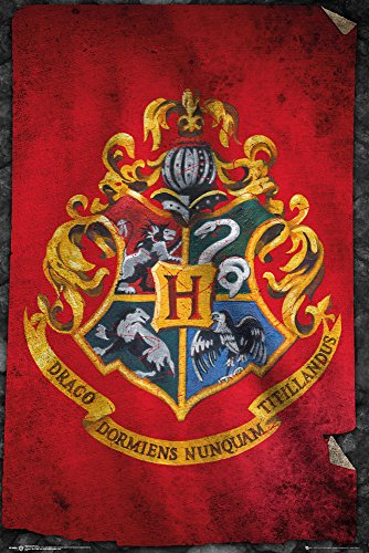 GB eye, Harry Potter, Hogwarts Flag, Maxi Poster, 61x91.5cm