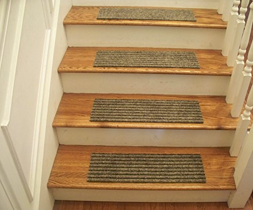 Essential Carpet Stair Treads - Style: Classy - Color: Beige and Black - Size: 24