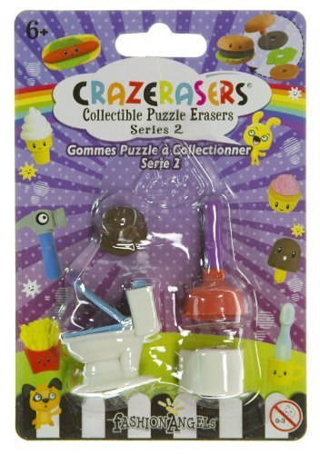 Toilet Essentials (4 Mini-Erasers) - CrazErasers: Collectible Erasers Series #2