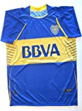 BOCA JUNIORS # 10 ROMAN RIQUELME HOME SOCCER JERSEY SIZE LARGE .NEW.