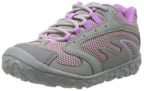 Hi-Tec Meridian JR Hiking Shoe ,Steel Grey/Horizon/Orchid,7