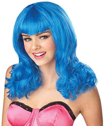 California Costumes Blue Sensation Wig, Blue, One Size - 1