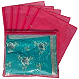 Indi Bargain Non Woven Single Saree Covers - Set of 6