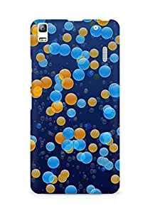 Amez designer printed 3d premium high quality back case cover for Lenovo A7000 (Points circles colorful light small scattering)