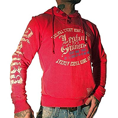Yakuza Herren Sweatshirt HOB 524 Legion of Sinners ribbon red moon washed