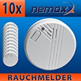 10x Nemaxx FL2 Smoke Detector - in accordance with EN 14604