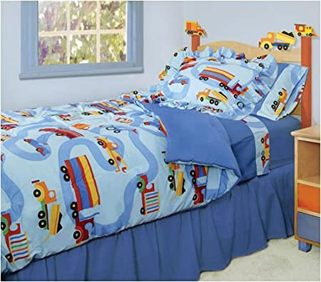 Construction bedding totally kids totally bedrooms for Boys construction bedroom ideas