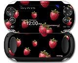 Sony PS Vita Skin Strawberries on Black by WraptorSkinz