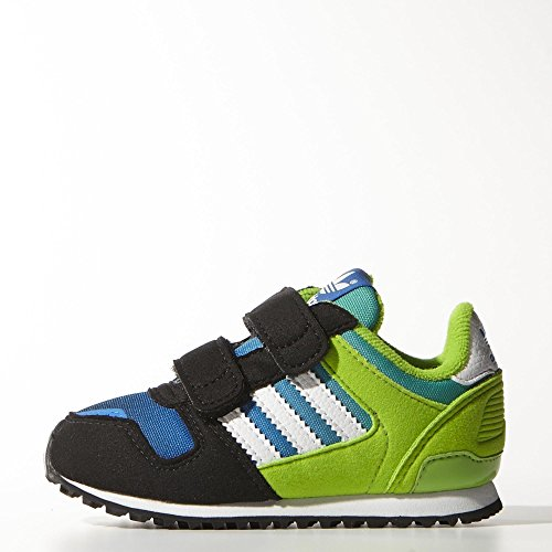 Adidas Zx 700 Cf I Infant Kids Shoes Black/White/Green/Blue M25250 (Size: 10K) front-1069554
