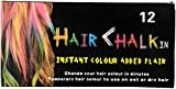 Looks United 12 Colors Non-toxic Temporary Square Hair Dye Washable Color Chalk Hair Color