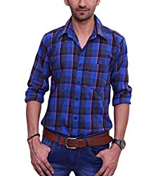 Ballard Men's Casual Shirt (BCS0009_Green_42)