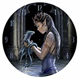 Water Dragon - Gothic Fairy Art Wall Clock By Anne Stokes