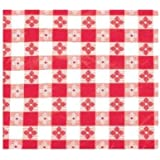 Winco TBCS-52R Checkered Table Cloth, 52-Inch x 52-Inch, Red