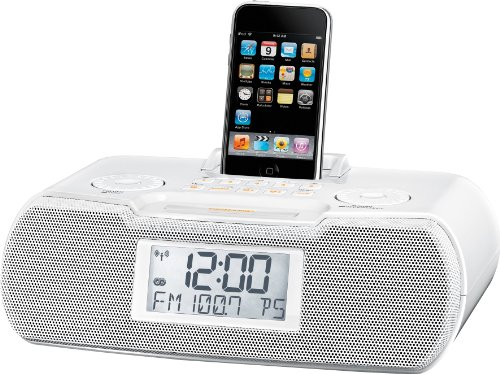 FM-RBDS / AM / Aux-in Digital Tuning Atomic Clock Radio with iPod Dock (Digital Clock Radio Ipod compare prices)