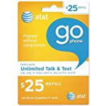 25 AT&T Go Phone Refill Card