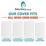 Premium Pack N Play Crib Mattress Pad Cover Bundle-Fits ALL Mini/Portable Cribs Waterproof Dryer Friendly Soft Hypoallergenic Non-Toxic Lifetime Warranty+FREE Waterproof Changing Pad Liner& Ebook