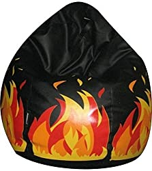 Jupiter Leatherette XXXL Bean Bag Cover Only (without Filling) - Black Hot Seat