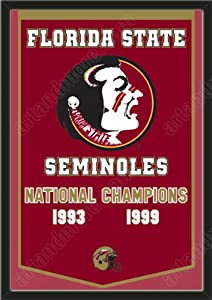 Dynasty Banner Of Florida State Seminoles-Framed Awesome & Beautiful-Must For A... by Art and More, Davenport, IA