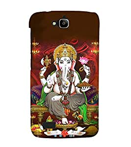 Lord Vinayaka Swamy 3D Hard Polycarbonate Designer Back Case Cover for Huawei Honor Holly :: Honor Holly
