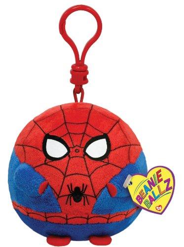 TY Beanie Ballz - SPIDERMAN the Super Hero (Plastic Key Clip - 3 inch)