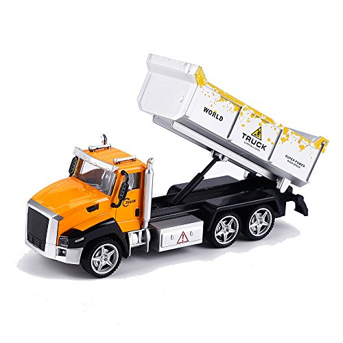 Kidcia Pull Back Cars Collectible Dump Truck Model for Toddlers Diecast Alloy Vehicles Simulation Construction Trucks Toys for Kids