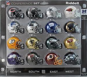 NFC Conference Pocket Pro Mini Helmet Set - All 16 NFC Teams - 2013 Current Helmets by Creative Sports
