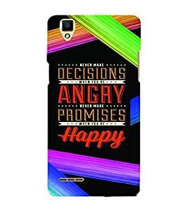 PrintVisa Quotes & Messages Inspiration Colorful 3D Hard Polycarbonate Designer Back Case Cover for Oppo F1