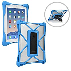 Cooper Cases(TM) Trooper Toshiba Encore 2 10 (WT10-A32, WT10-A264) Drop Proof Rugged Case in Blue (Patent Pending Ultraslim Body, Reinforced Corners, Open Rear-Camera, Kickstand)