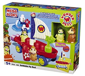 Amazon.com: Mega Bloks Wonder Pets Buildable Fly Boat: Toys & Games