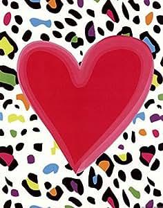 Amazon.com: Leopard Heart - Pop Art Poster by Louise Carey (11 x 14