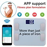 A8POWER wireless bluetooth body weight digital & electronic Scale/Fat Test/ ....