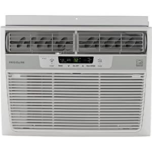Frigidaire Energy Star 10,000 BTU 115V Window-Mounted Compact Air Conditioner w/ Temperature Sensing Remote Control, FFRE1033Q1