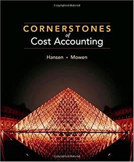 Cornerstones of Cost Accounting