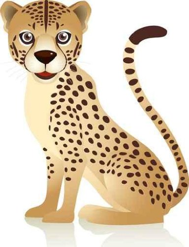 Animal Wall Decals Cheetah - 18 Inches X 14 Inches - Peel And Stick Removable Graphic front-790529